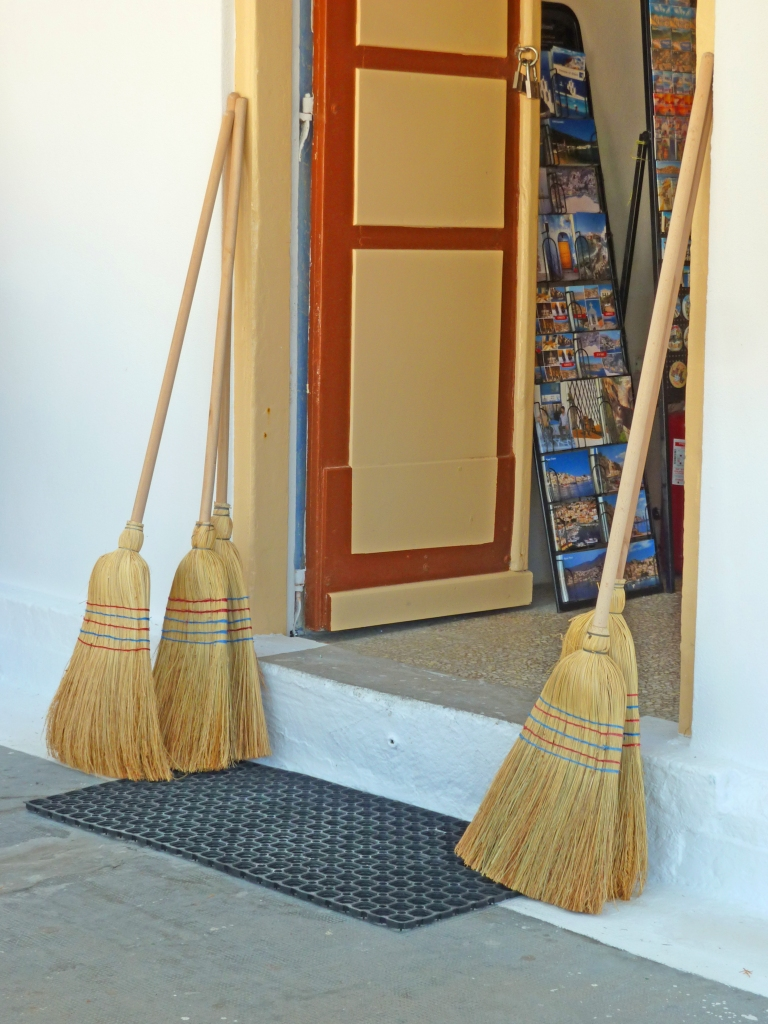 Brooms for sale for the Angel